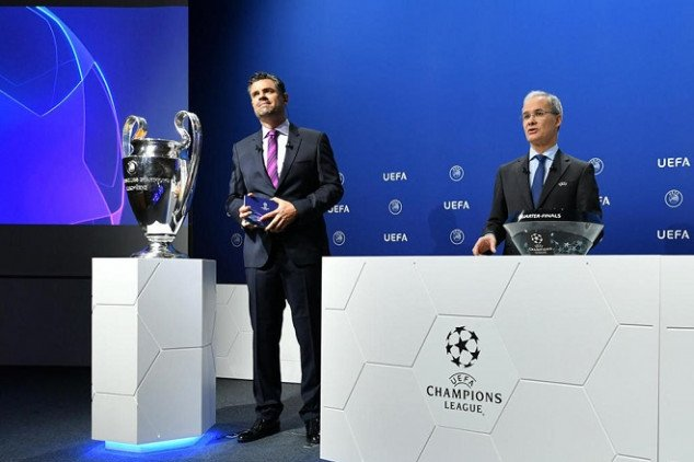 UEFA Champions League draw- all groups revealed