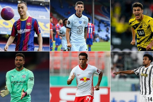 USMNT players featuring in Europe