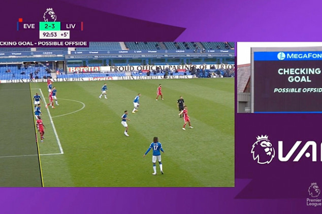 VAR in controversy after Everton 2-2 Liverpool