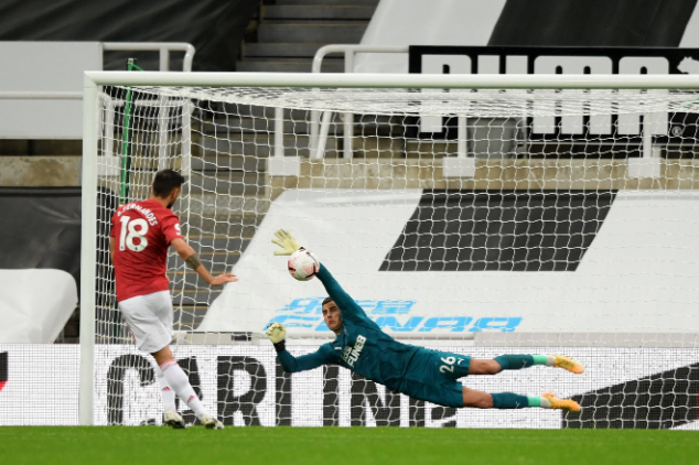 Bruno Fernandes misses first penalty in 4 years