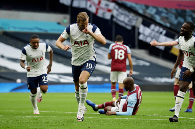 Kane hits two as Spurs lead by three in 16 mins