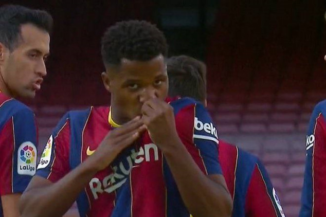 Ansu Fati makes history with first El Clásico goal