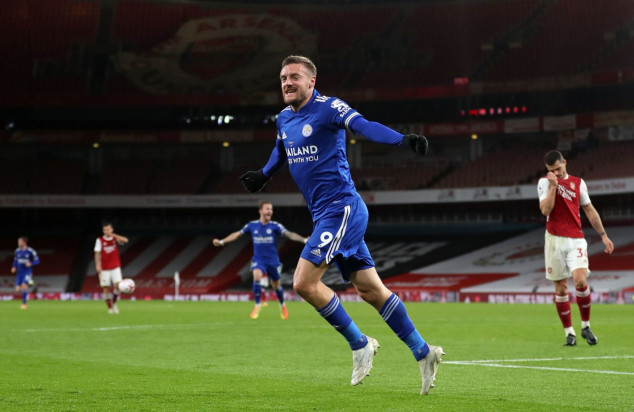 Vardy matches ex-Man Utd ace's feat in Arsenal win