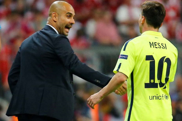 Pep and Messi back together at Camp Nou?