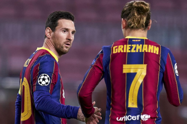 Messi hits back at Griezmann's former rep