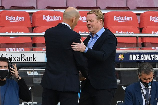 Zidane hits back at Koeman over recent comments