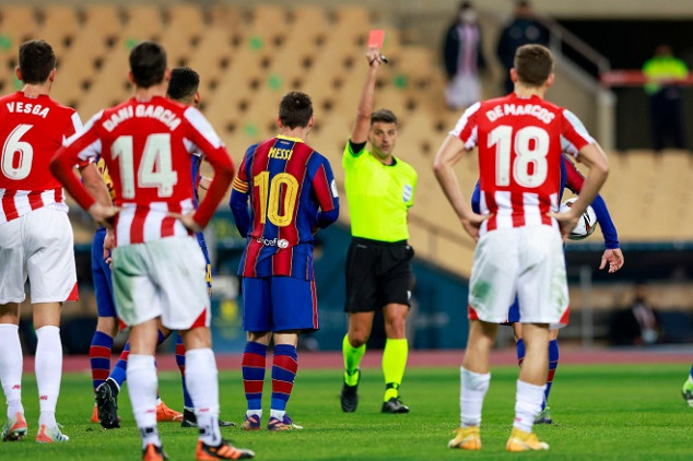 Messi slapped with 2-match ban after red card