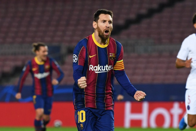 Messi grabs 2 records with goal vs PSG