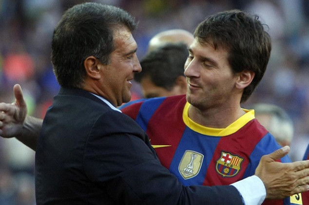 Laporta turns to Messi after winning elections