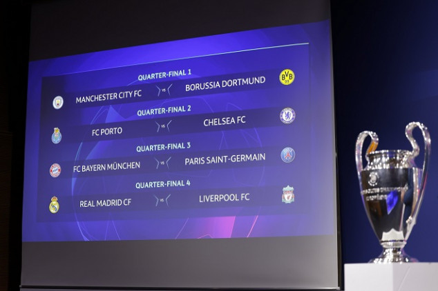 UEFA Champions league draw results revealed