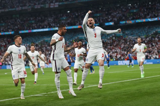 Shaw makes history with Euro 2020 final opener