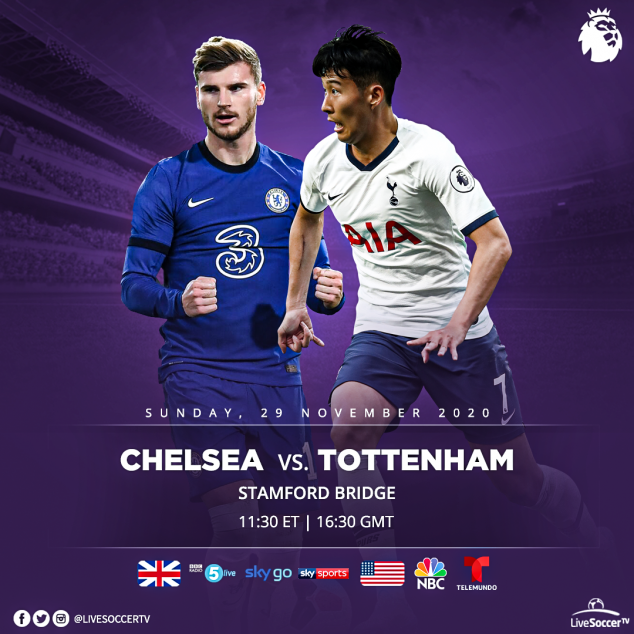 Chelsea, Tottenham, Broadcast Listings, English Premier League