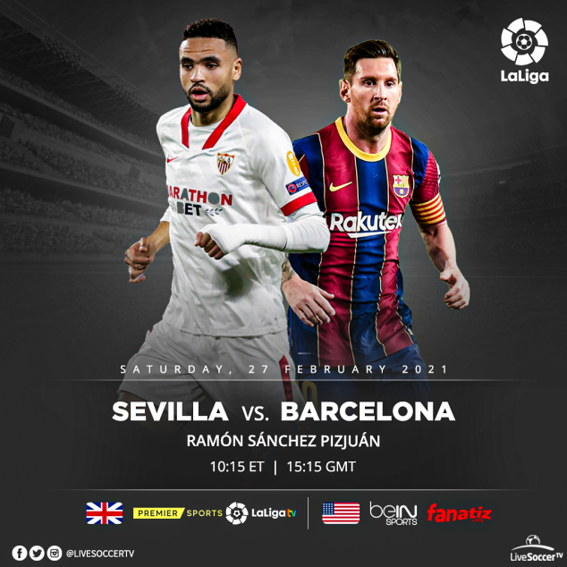 Barcelona, Sevilla, La Liga, Broadcast Listings