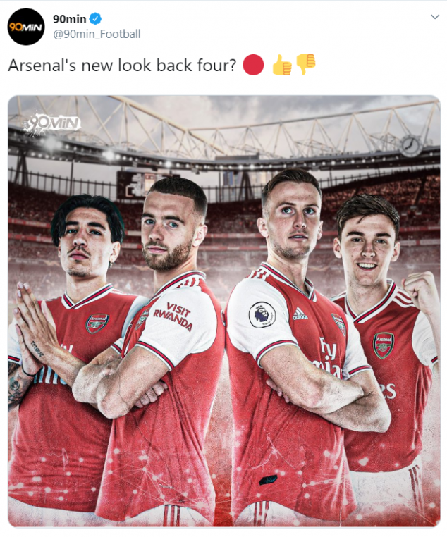 Rob Holding, Hector Bellerin, Keiran Tierney, Calum Chambers, Arsenal
