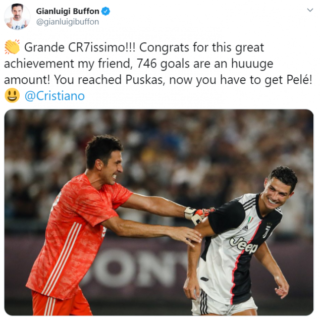 Gianluigi Buffon, Cristiano Ronaldo, Portugal, 746 goals, UEFA Nations League