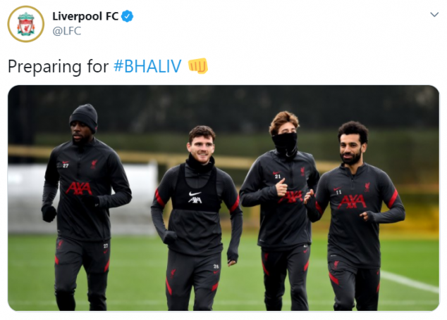 Liverpool, Brighton, Training, English Premier League