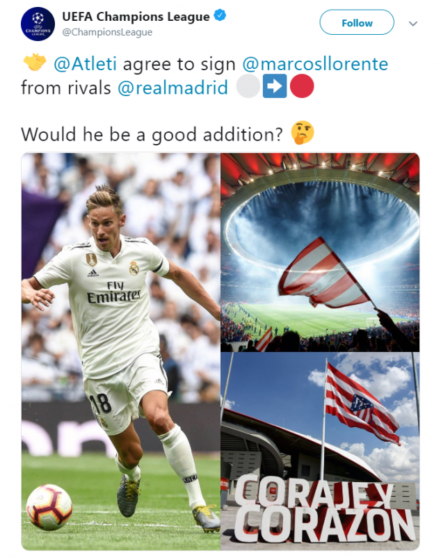 Marcos Llorente, Atletico Madrid, Real Madrid, La Liga