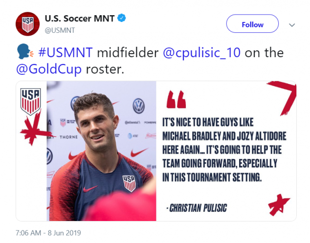 Christian Pulisic, USA, Guyana, Gold Cup