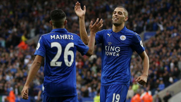 Riyad Mahrez, Islam Slimani, Leicester City, English Premier League