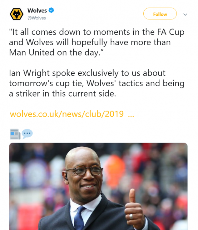 Ian Wright, Wolves, Manchester United, FA Cup